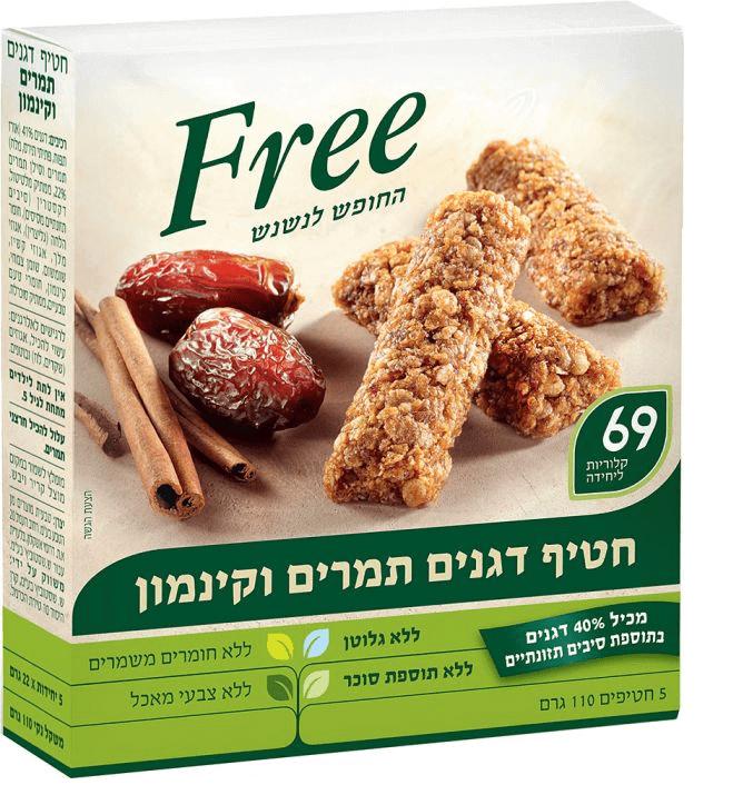 מארז חטיפי דגנים תמרים וקינמון – free