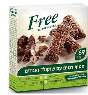 מארז חטיפי דגנים שוקולד ואגוזים – free – ללא גלוטן