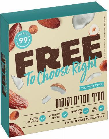 חטיפי תמרים וקוקוס – free – ללא גלוטן