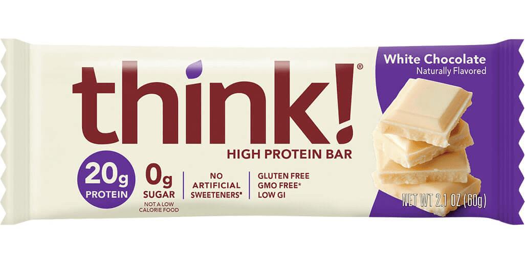 חטיף חלבון בטעם שוקולד לבן THINK