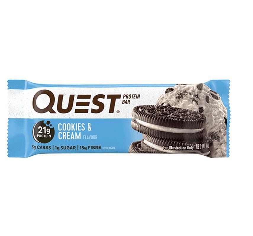 חטיף חלבון בטעם עוגיות וקרם – קווסט – ללא גלוטן