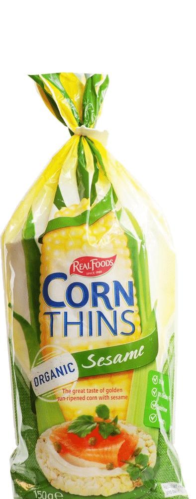 פריכיות תירס עם שומשום – קורן סינס ללא גלוטן