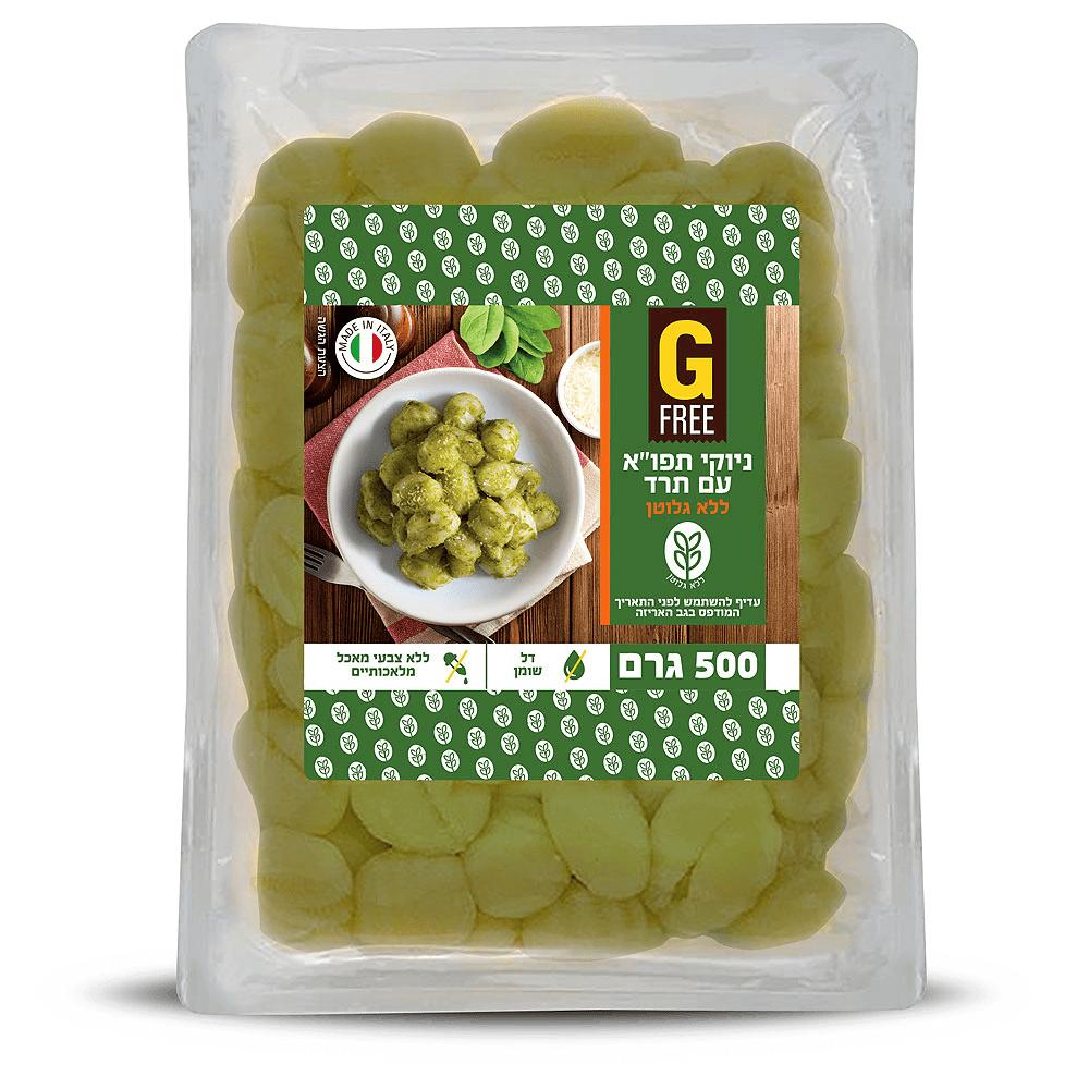 ניוקי תפוחי אדמה עם תרד – G FREE ללא גלוטן