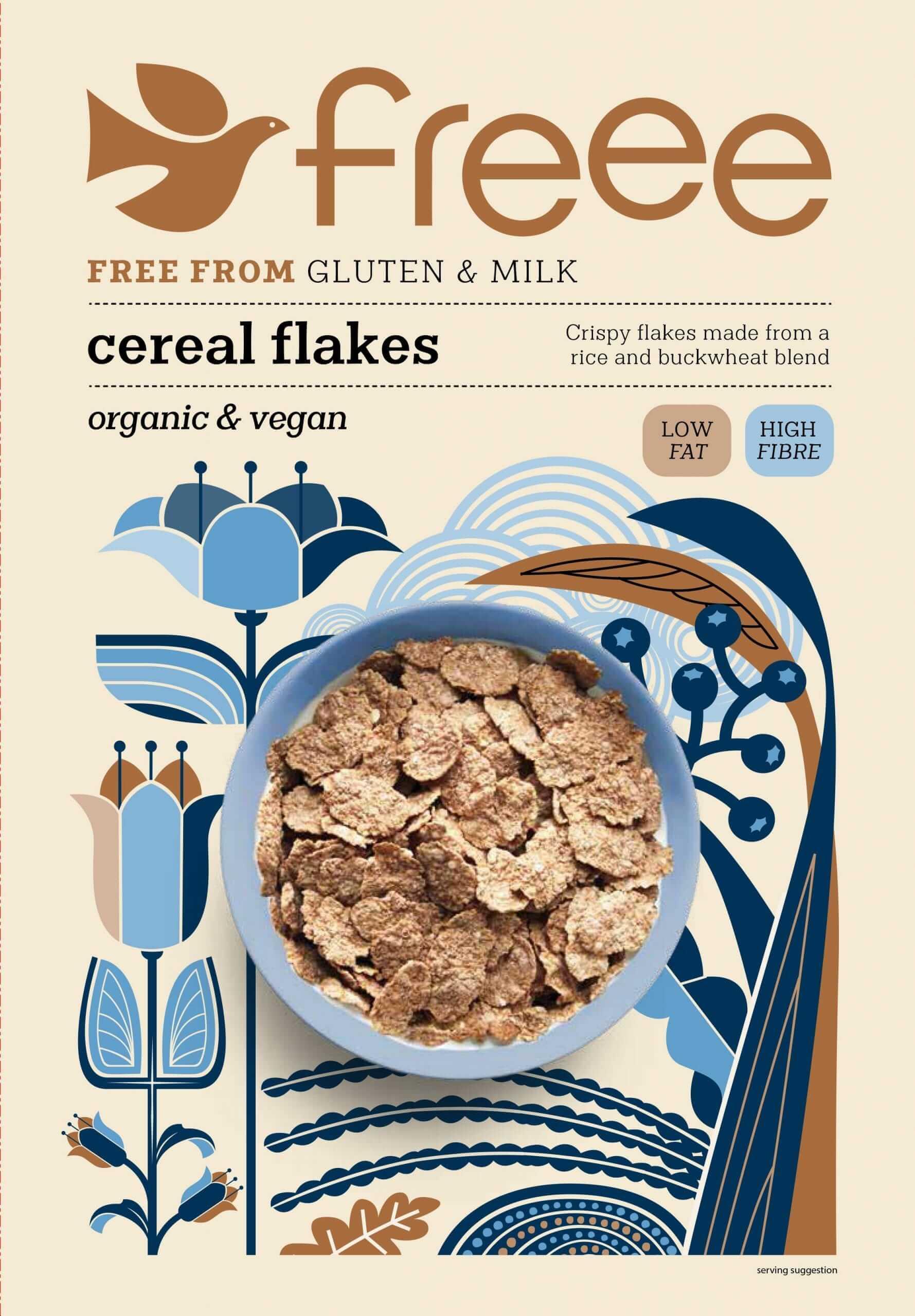 דגני בוקר פתיתי אורז וכוסמת קלויים ללא גלוטן – FREEE