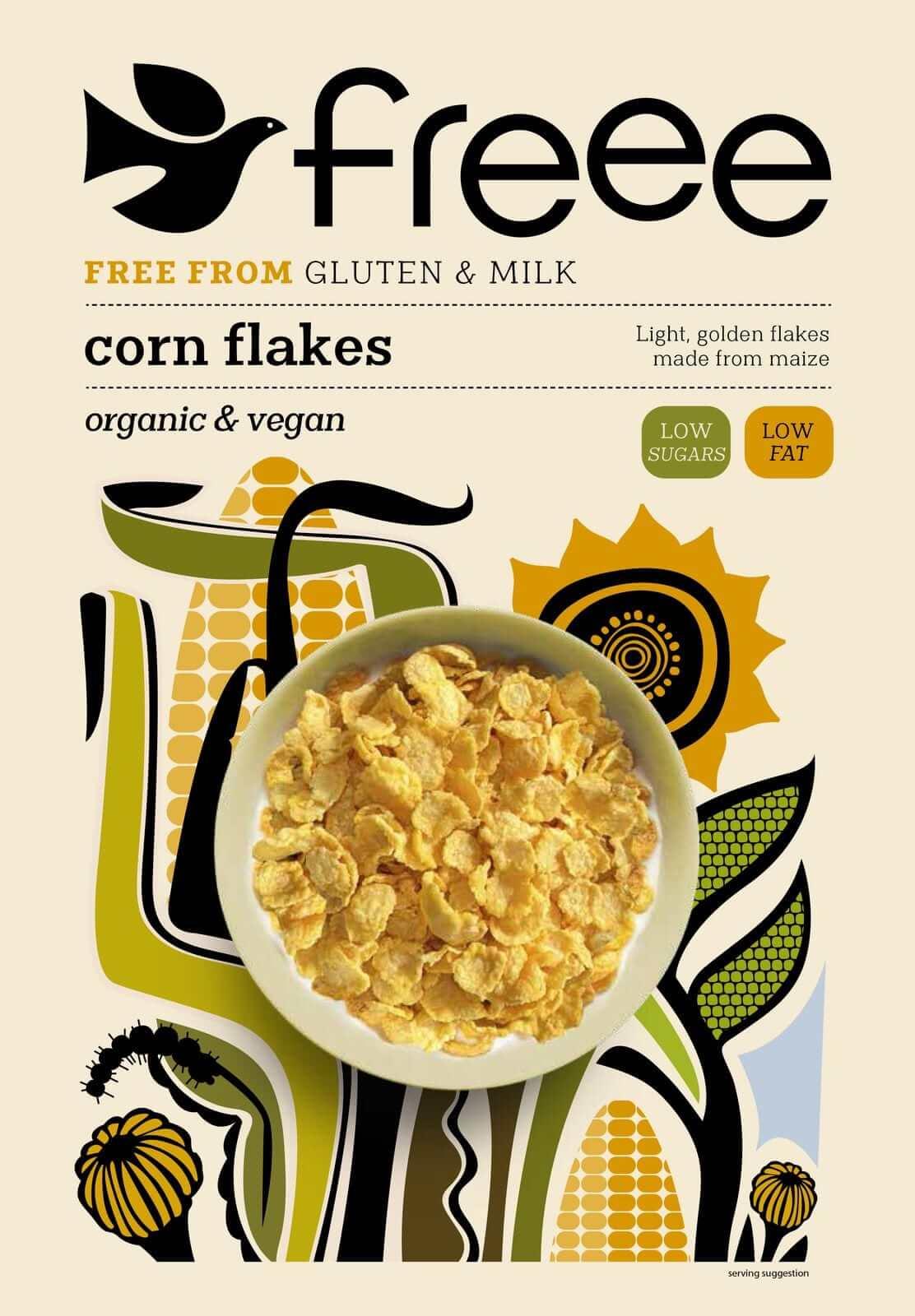 דגני בוקר פתיתי תירס קלויים ללא גלוטן – FREEE