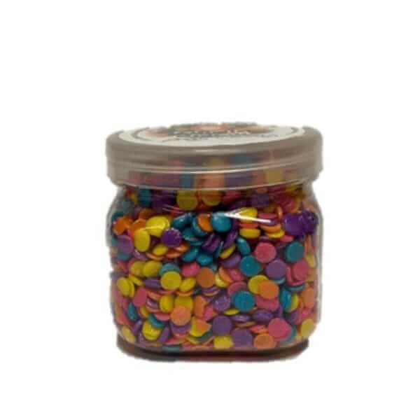 סוכריות לקישוט כדורים שטוחים צבעוניים