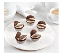 קאפקייקס פרפרי שוקולד בלי גלוטן